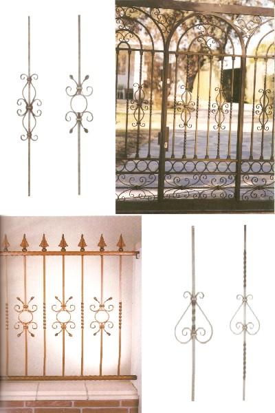 Modelos de balaustres para rejas puertas barandillas forja for Modelos de puertas de forja