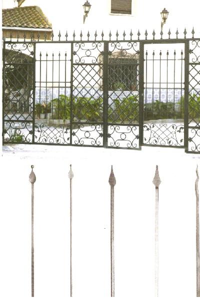 Catalogo de flechas forjadas o lanza en forja para puertas for Modelos de portones en hierro forjado