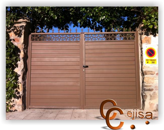 Puertas de exterior de hierro en modelo chapa perfil puerta for Puertas de chapa para exterior
