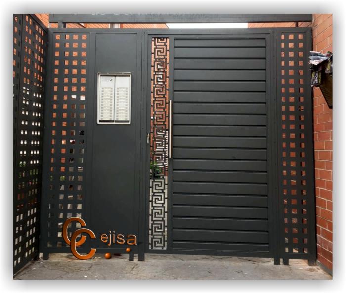 Puerta peatonal modelo chapa perfil puerta combinada con - Chapa metalica perforada ...