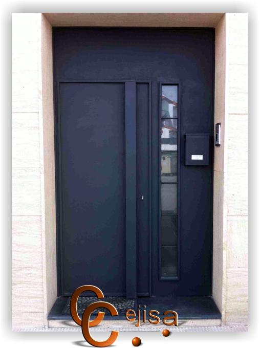 Puertas modernas puerta de entrada con estilo moderno y for Puertas de entrada de casas modernas