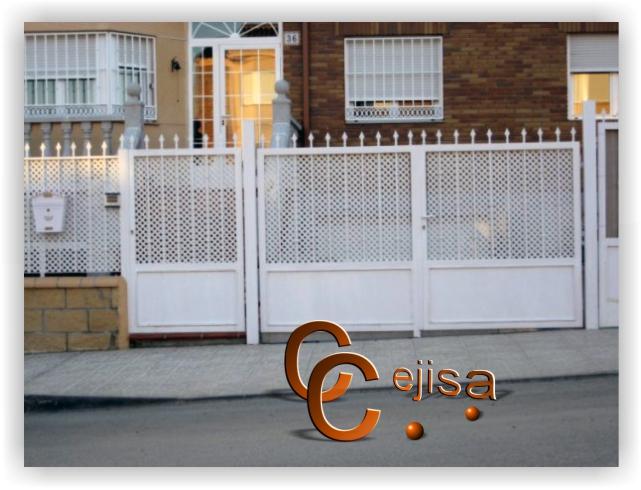 Conjunto de puertas y valla en modelo chapa perforada - Chapa de hierro ...