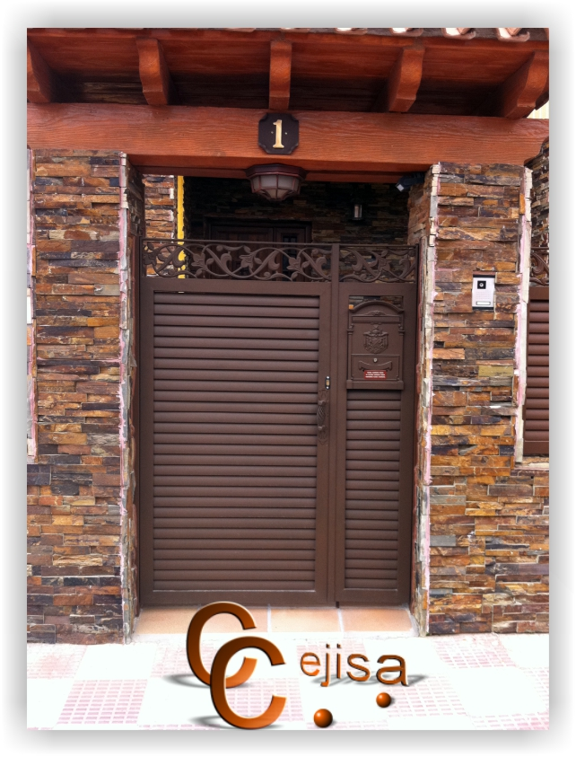 Puertas de lamas puerta peatonal de lama el ptica galvanizada - Puerta de lamas ...