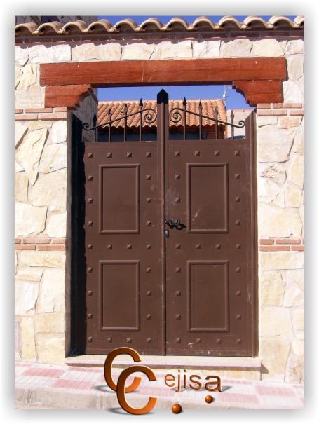 Puerta exterior hierro beautiful diseo de hierro forjado - Puertas rusticas de exterior segunda mano ...
