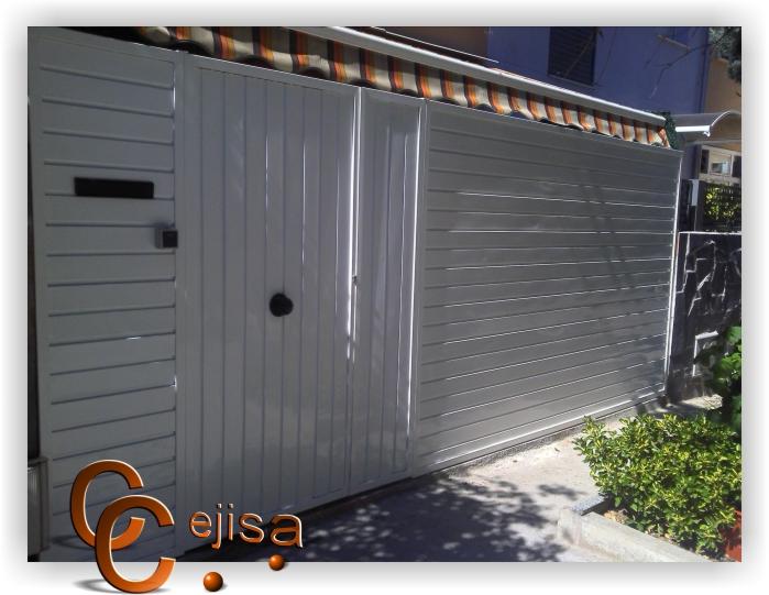Puerta peatonal y valla en modelo chapa perfil puerta - Puertas de valla ...
