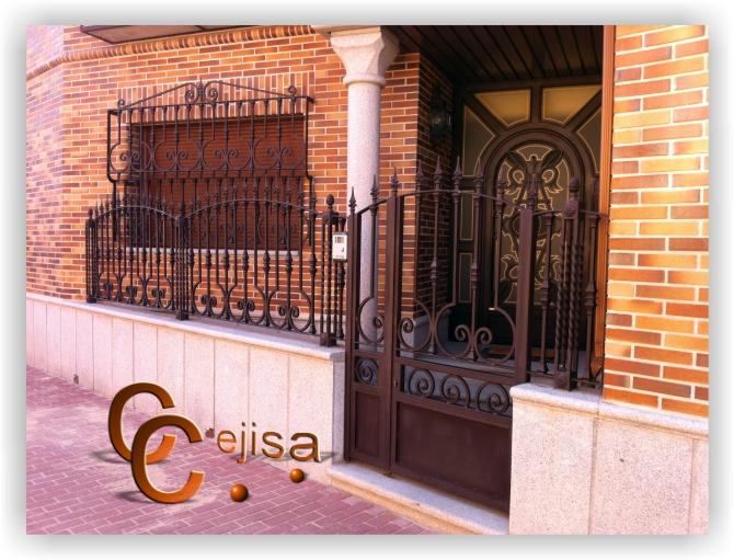Puertas y vallas en modelo forja conjunto de puerta y - Puertas de valla ...