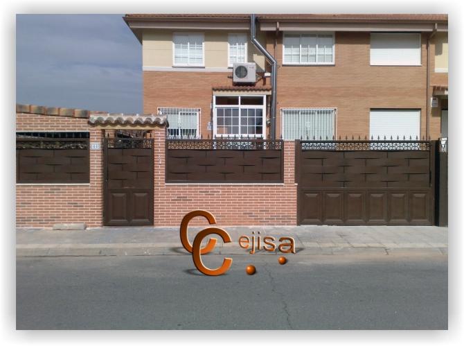 Puertas y vallas en modelo chapa entrelazada y cuarter n - Chapa de hierro ...