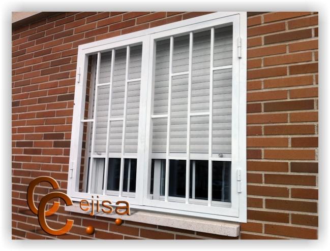Rejas para ventas o puertas en modelo ladrillo de dos hojas for Modelos de rejas de fierro para puertas