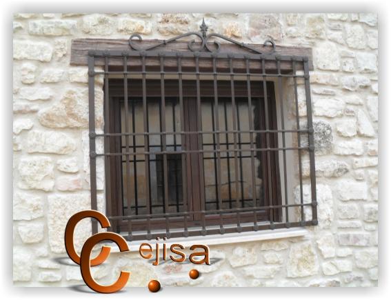 Rejas para ventanas en modelo castellano forjado - Rejas de forja antiguas ...