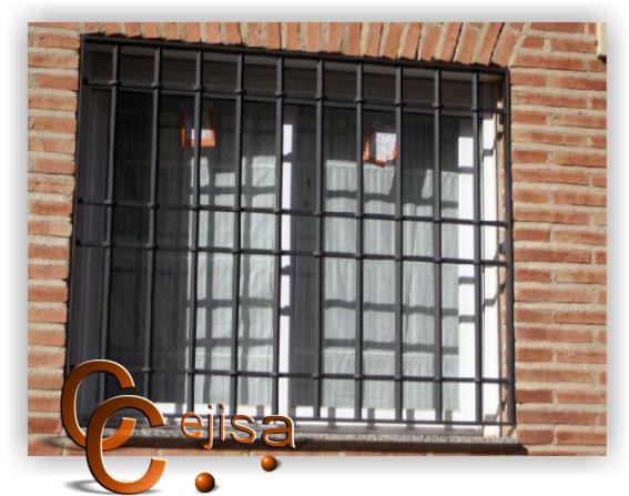 Rejas para ventanas rejas en modelo castellana sencilla - Modelo de rejas ...