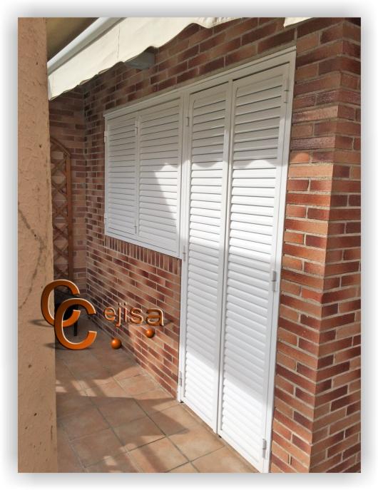 Veneciana de seguridad para puerta y ventana for Puertas venecianas