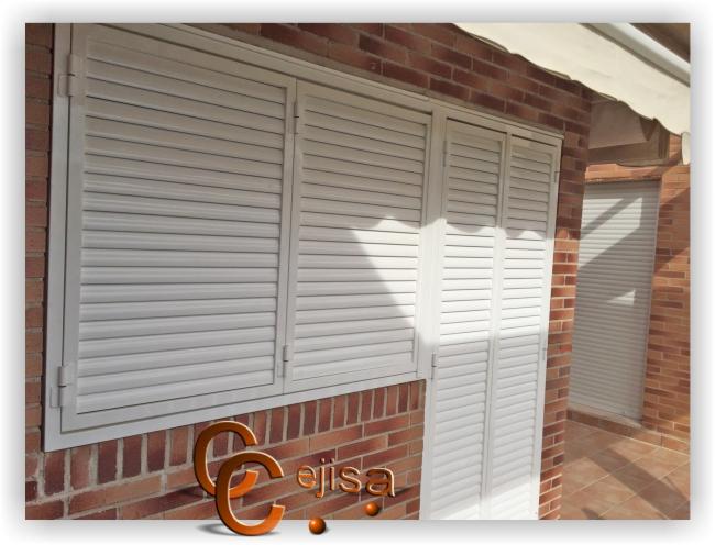 Veneciana de seguridad para ventana y puerta for Puertas venecianas